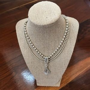 Silpada Cascading Silver Necklace N1900